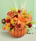 Artifical Pumpkin with flowers